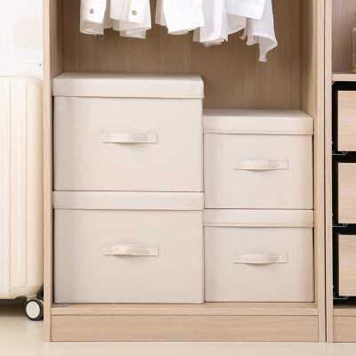 黎贝卡衣柜收纳箱整理盒子衣物玩具零食储物筐家用小号布艺带有盖可折叠