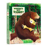 我的泰迪熊去哪了Pop-up立�w�� where's my Teddy 英文原版�L本 廖彩杏���� 幼�河⒄Z�⒚勺x物�D��故事