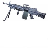 绝地求生m249电动连发大菠萝二代三代模型轻机枪吃鸡* m249三代尼龙版 收藏送海螺靶布嘴