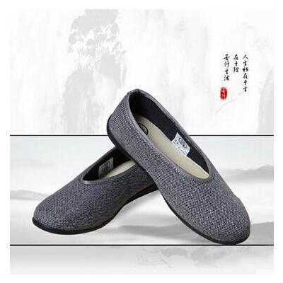 男女款老北京麻布橡胶底鞋太极鞋禅修鞋 男女款太极鞋禅修鞋麻布鞋中邦鞋老北京