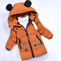 男童冬装1-2-3-4周岁宝宝冬季棉衣5婴儿童装加厚棉袄小孩外套 焦糖 M码(身高80-90cm)