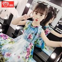 2019夏季新款儿童童装裙子女孩韩版洋气公主裙女童夏装雪纺连衣裙