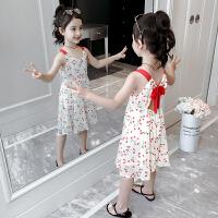 2019新款洋气童装儿童雪纺碎花裙小女孩背心公主裙女童夏装连衣裙