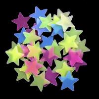 夜光星星墙贴3d立体卧室墙壁装饰品宿舍贴画创意发光荧光贴纸 大