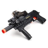 玩具电动连发水晶珠弹枪儿童玩具枪男孩98K可发射子蛋水珠A5水晶弹 吃鸡 AK-15 SCAK黑 送变色靶