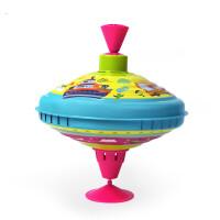 儿童铁皮按压式旋转陀螺玩具户外运动3-6周岁礼物 大号铁皮旋转陀螺