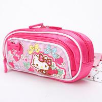 新KT凯蒂猫儿童中小学生女童大容量多层笔袋文具袋可爱蝴蝶结笔盒