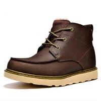 男士棉鞋加绒短靴 军靴高帮男鞋 冬季英伦马丁靴 男靴子 皮靴工装
