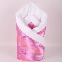 婴儿抱被冬被子婴儿被子花保暖秋冬男女宝宝棉花抱被新生儿外出抱毯襁褓包被wk-64