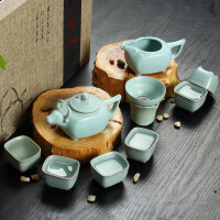 尚帝 功夫茶具套装 天青汝窑茶具套装 BH2014-095A