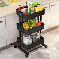 家用厨房用品置物架收纳储物架调味架蔬菜水果篮客厅小推车可移动