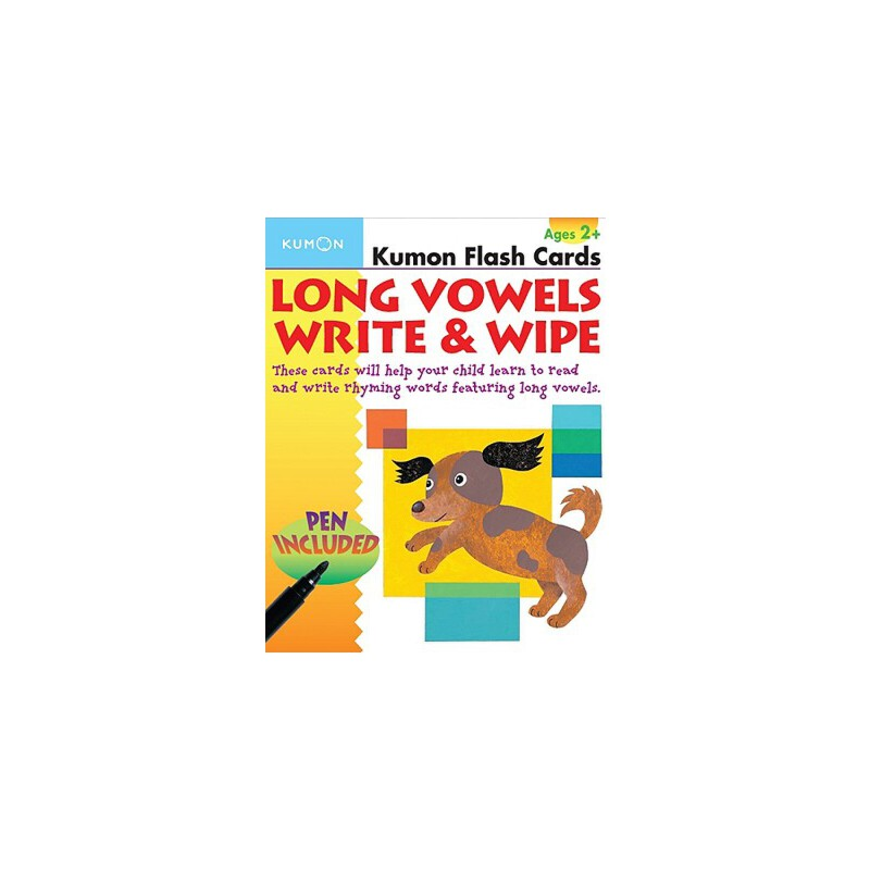 【预订】Long Vowels Write & Wipe! Flash Cards [With Toxic-Free Pen] 预订商品,需要1-3个月发货,非质量问题不接受退换货。