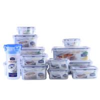 乐扣乐扣 塑料保鲜盒13件套装冰箱收纳 HPL824S001 半透明