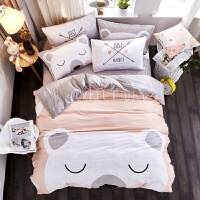 新品AB法兰绒卡通床上四件套珊瑚绒儿童床单被套法莱绒秋冬季定制