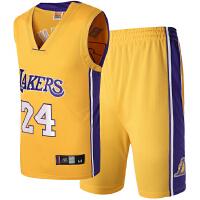 湖人队球服24号科比球衣 篮球服套装男 裤号码绣花大码