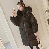 棉衣女冬装2018新款棉袄韩版中长款过膝面包服外套