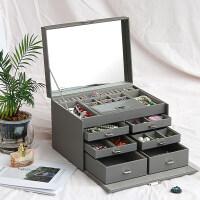 大容量首饰盒欧式公主韩国木质珠宝箱珠宝首饰品收纳盒 礼物女