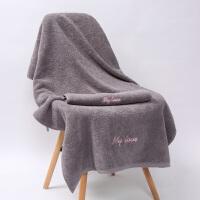 情侣浴巾纯棉男女柔软吸水可爱韩版家用大号速干个性全棉毛巾 140x70cm