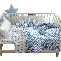 幼儿园被子三件套儿童纯棉被褥宝宝午睡全棉被套婴儿床含芯六件套 1.2m(4英尺)床