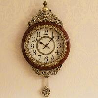 钟表挂钟客厅欧式大气欧式时钟挂墙创意潮流家用装饰壁钟春节礼物情人节礼物 20英寸