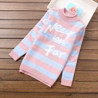 儿童毛衣女童套头衫中领针织中大童打底衫学生青少年秋冬新款105