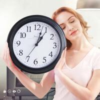 挂钟客厅圆形创意时钟挂表简约现代家用家庭静音电子石英钟钟表