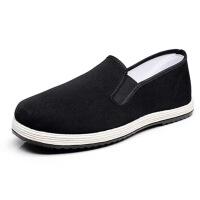 橡胶轮胎底传统老北京系列松紧口军单轮胎工作鞋纯布黑布鞋