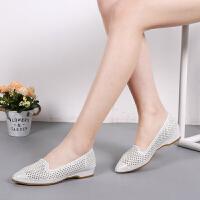 老北京布鞋夏季网眼女鞋镂空透气凉鞋舒适平底时装鞋时尚妈妈鞋