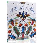英文原版绘本 A Beetle Is Shy 美丽成长生命 儿童科普绘本:胆小的甲壳虫 精装大开 儿童认知百科