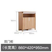 【品牌特惠】小户型客厅储物柜现代简约收纳柜北欧风厨房餐边柜简易置物柜 餐边柜 双门