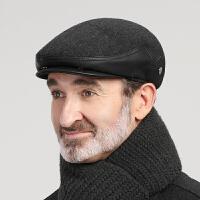 老人帽子男冬天休闲鸭舌帽中老年人男士前进帽护耳保暖爸爸爷爷帽
