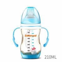 母婴宽口径PPSU奶瓶 吸管带手柄感温变色210ML