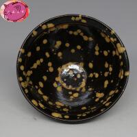 珍珠彩斑饭碗 茶碗古董古玩高仿出土古瓷器 复古摆件把玩 默认款式