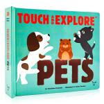 宠物触摸书 Touch and Explore Jungle Pets 英文原版绘本 精装触摸翻翻书 儿童动物科普百科