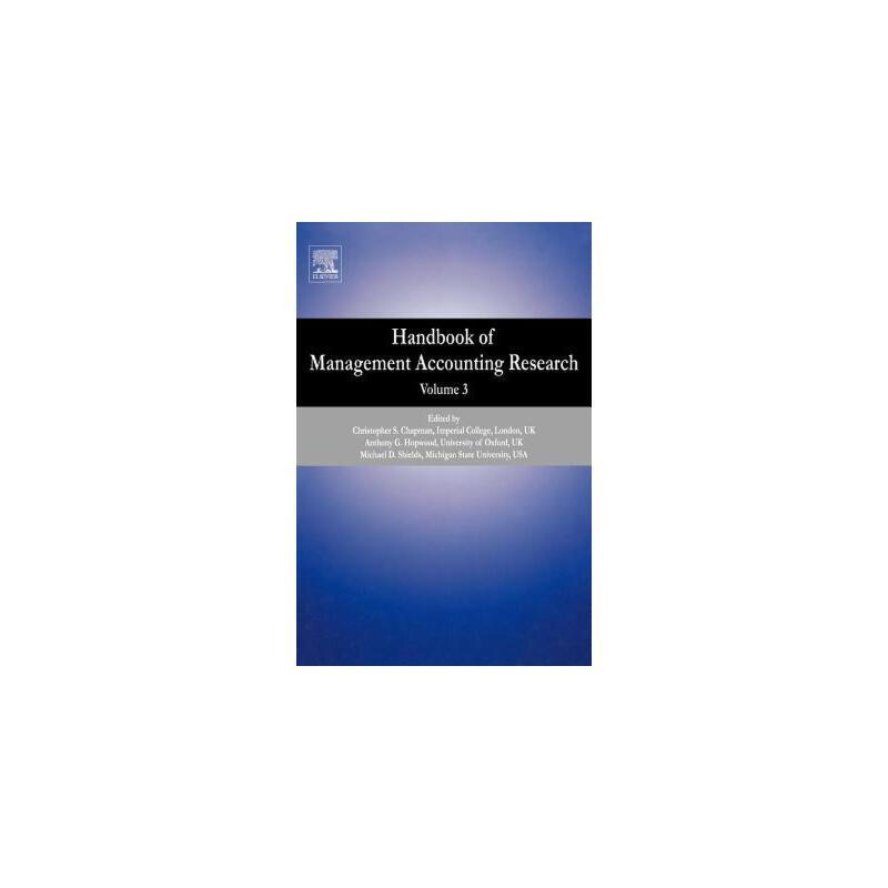 【预订】Handbook of Management Accounting Research, Volume 3 预订商品,需要1-3个月发货,非质量问题不接受退换货。