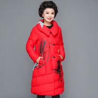 中老年羽绒女中长款加厚时尚反季棉衣妈妈冬装外套棉袄40岁50