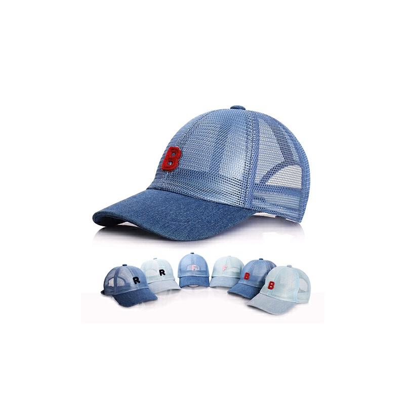 男童网帽女童太阳帽凉帽网眼鸭舌帽儿童帽子夏季遮阳帽宝宝帽子