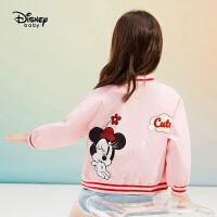 【4折�A估�r:115.1元】迪士尼女童�r尚�\�舆B帽外套2021春�b新款童�b�����和��_衫上衣