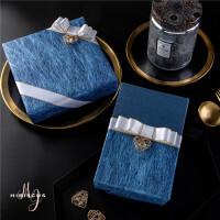 礼物包装纸套装搭配七夕生日礼物礼盒礼品包装纸创意包装纸特种艺术纸 绅士蓝 5材料0盒