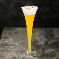 喇叭杯鸡尾酒杯三角杯马天尼杯高脚杯香槟杯红酒杯玻璃杯酒杯