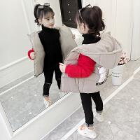 2019冬季时尚韩版短款带帽外套女孩中大童洋气加厚棉衣