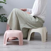 小凳子塑料家用宝宝矮凳儿童餐椅小板凳圆凳浴室洗脚换鞋凳