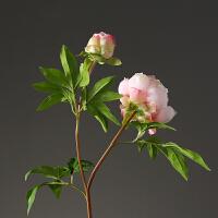 仿真牡丹假花 美式欧式家居饰品客厅餐厅插花花艺 婚庆仿真花花卉 粉红色