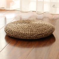草编榻榻米飘窗打坐垫蒲团禅修瑜伽垫加厚拜佛草垫子地垫圆形