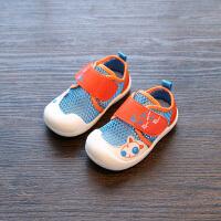 夏季0-1-3岁宝宝鞋男婴儿软底学步鞋女透气单鞋镂空网鞋