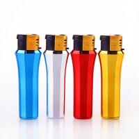 防风打火机充气50支一盒塑料防爆电子可充气明火一次性打火机批发