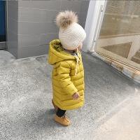 婴童装冬装2-3岁女童宝宝羽绒服长款白鸭绒婴儿加厚外套