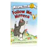 I Can Read系列 英文原版 跟我来小手套 猫咪小手套Follow Me Mittens Level Pre1