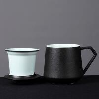 创意陶瓷杯子大容量水杯马克杯家用情侣杯带盖咖啡杯过滤茶杯定制