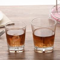 酒吧威斯忌酒杯 啤酒杯 厚底十字纹烈酒杯 创意威士忌杯洛杯 茶杯